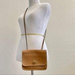 Coach Leather CrossBody Bag Tan Vintage Purse